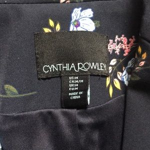 Cynthia Rowley Jackets & Coats - Cynthia Rowley navy blue floral blazer